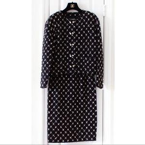 Rare Chanel Vintage 1983 Karl Black Jacket Suit